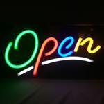 Neon LED Open