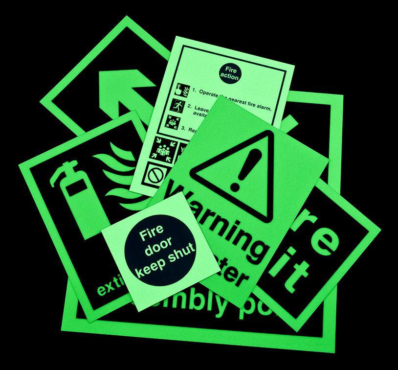 Radium Self Illuminated Stickers