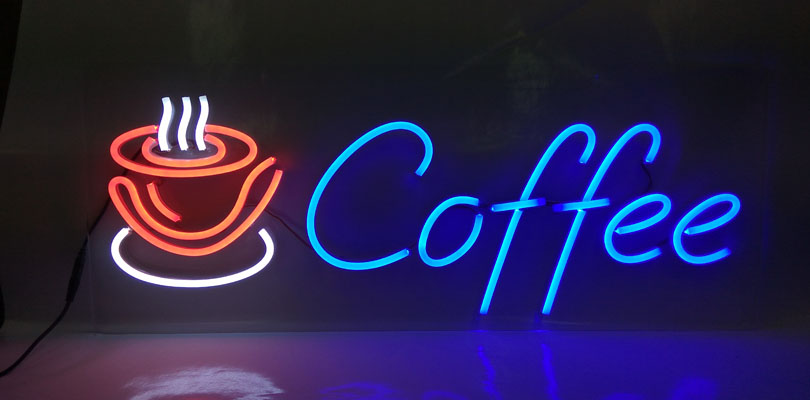 OD LED Coffee with Cup