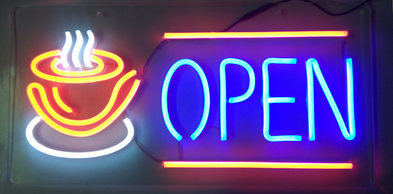 OD LED Neon - Open with Cup