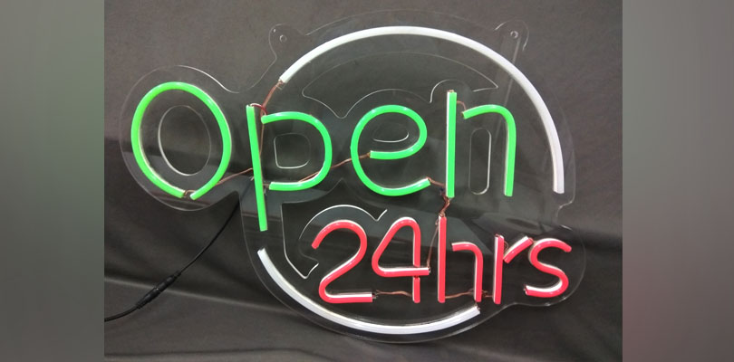 OD LED Neon - Open 24hrs