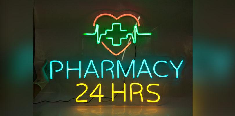 OD LED Neon - Pharmacy 24hrs.