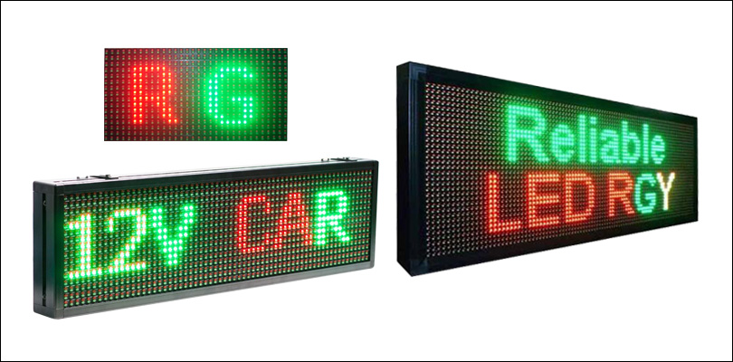 Tri Color Scrolling LED Display