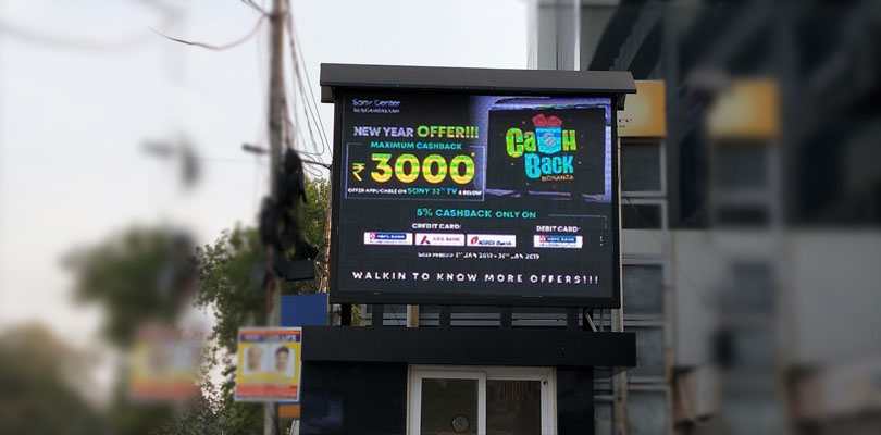 OD LED Video Wall at Sony Centre Nungambakkam Chennai